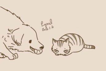 Комикс о коте и собаке